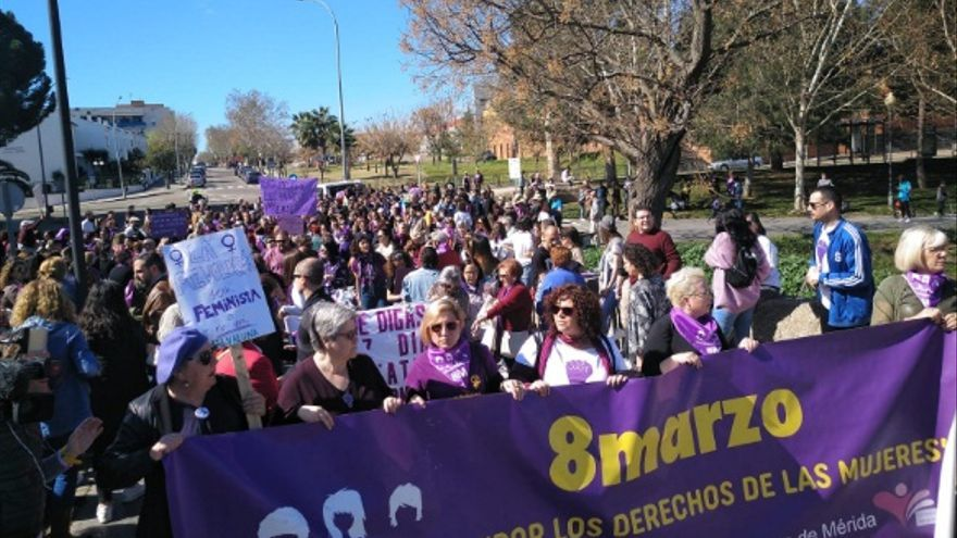 Manifestación en Mérida