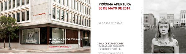 Invitación para la inauguración de la Sala Bárbara de Braganza de la Fundación Mapfre