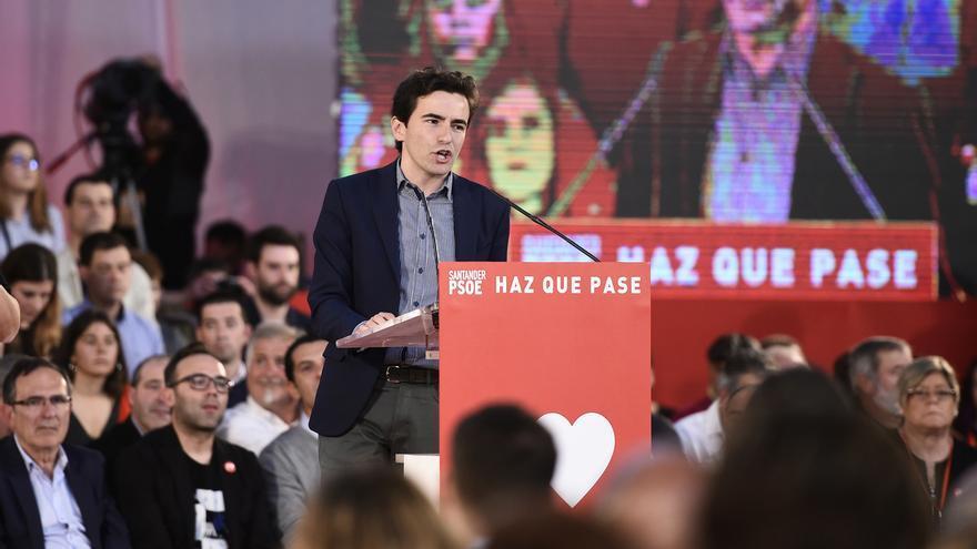 """Casares afronta la """"responsabilidad"""" de repetir los resultados """"históricos"""" del PSOE en Cantabria el 28A"""
