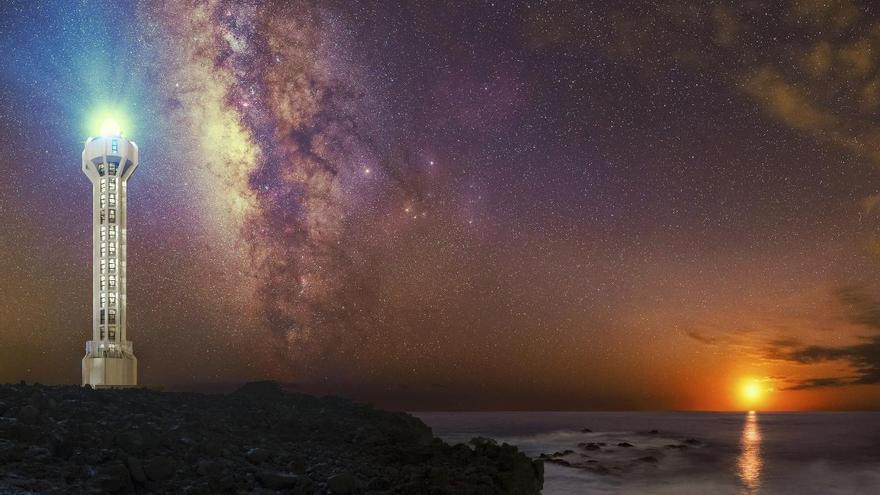 En la modalidad de 'Paisaje astronómico desde La Palma'  el tercer premio ha sido para Alexis Javier Acosta, con 'Luz de Luna'.