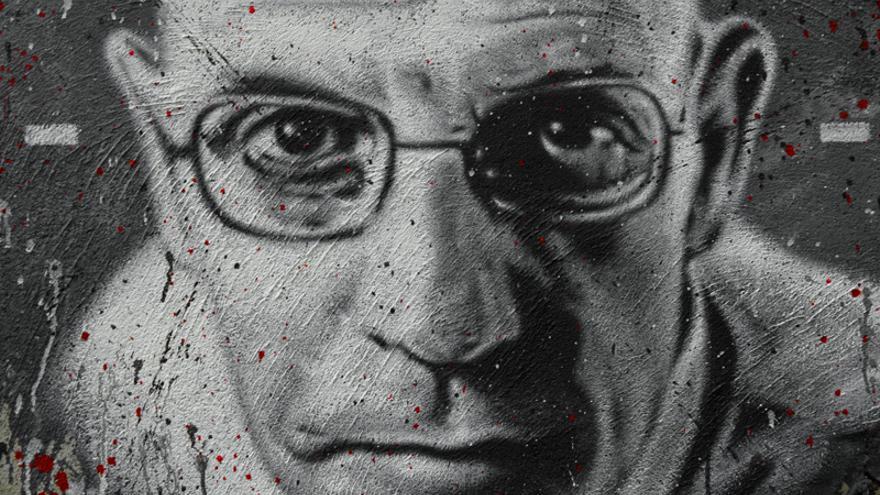 Retrato del filósofo francés Michel Foucault. Thierry Ehrmann vía Flickr