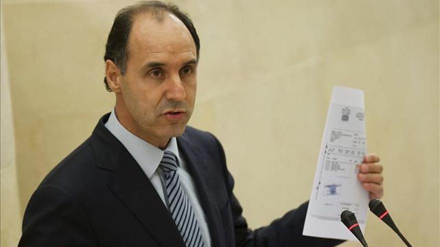 Ignacio Diego, durante su declaración en el Parlamento por el caso Aquagest.