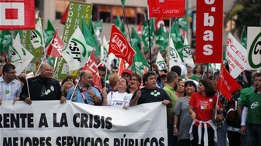 Imagen de las anteriores protestas del 23 de mayo.