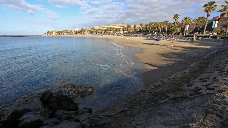 La playa del Camisón, en el municipio de Arona