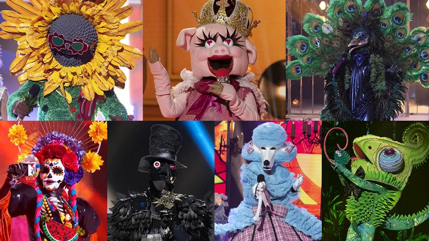 Los siete personajes de 'Mask Singer' que quedan por desenmascarar