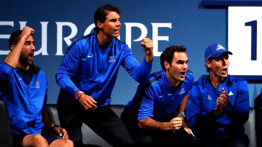 Nadal y Federer en la Laver Cup