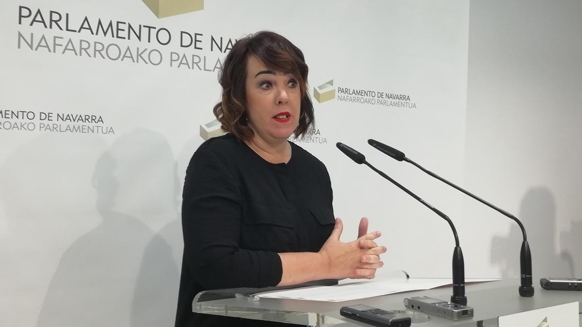 Ainhoa Aznárez, en el Parlamento de Navarra. Archivo.