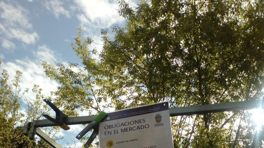Instrucciones de seguridad en el mercadillo de Guadalajara