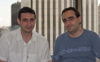 David Sáez (izq) y César Gómez