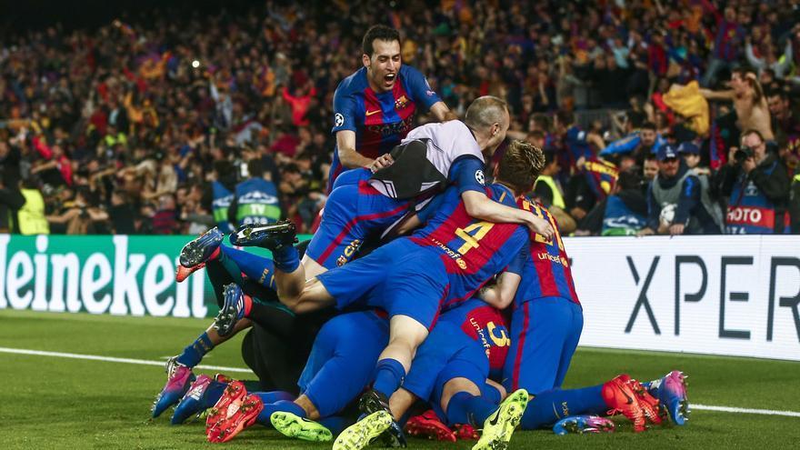 El gol de Sergi Roberto desató la alegría en el Camp Nou.