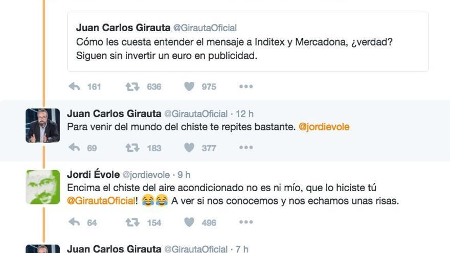 Discusión en Twitter entre Juan Carlos Girauta y Jordi Évole