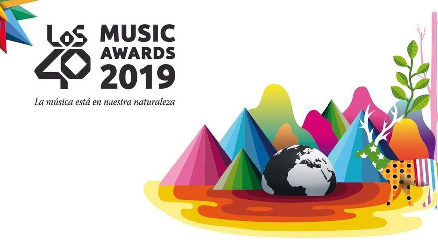 Okuda crea la imagen y la estatua del premio de los Los40 Music Awards
