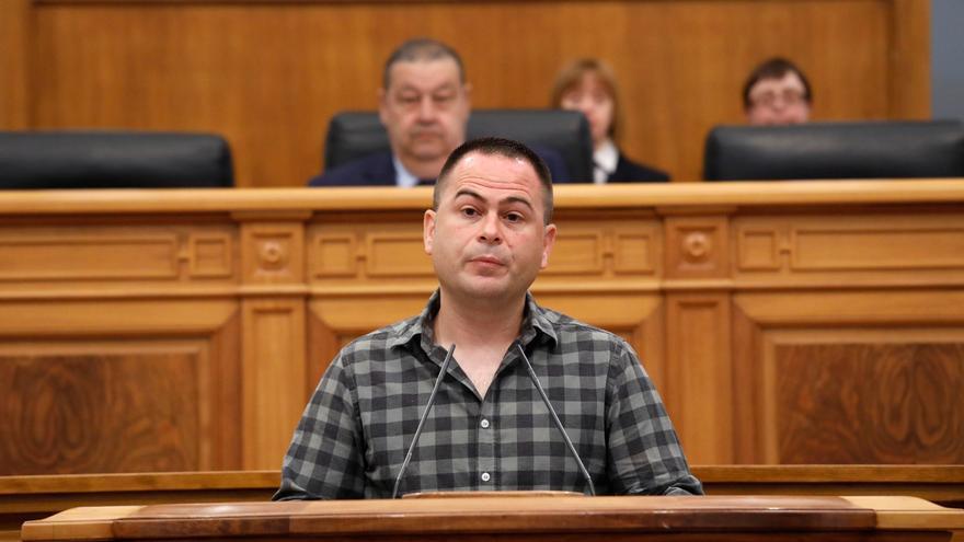 David Llorente, este jueves, en las Cortes regionales