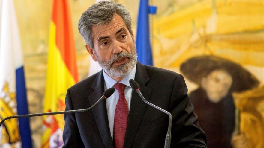 El presidente del Consejo General del Poder Judicial, Carlos Lesmes