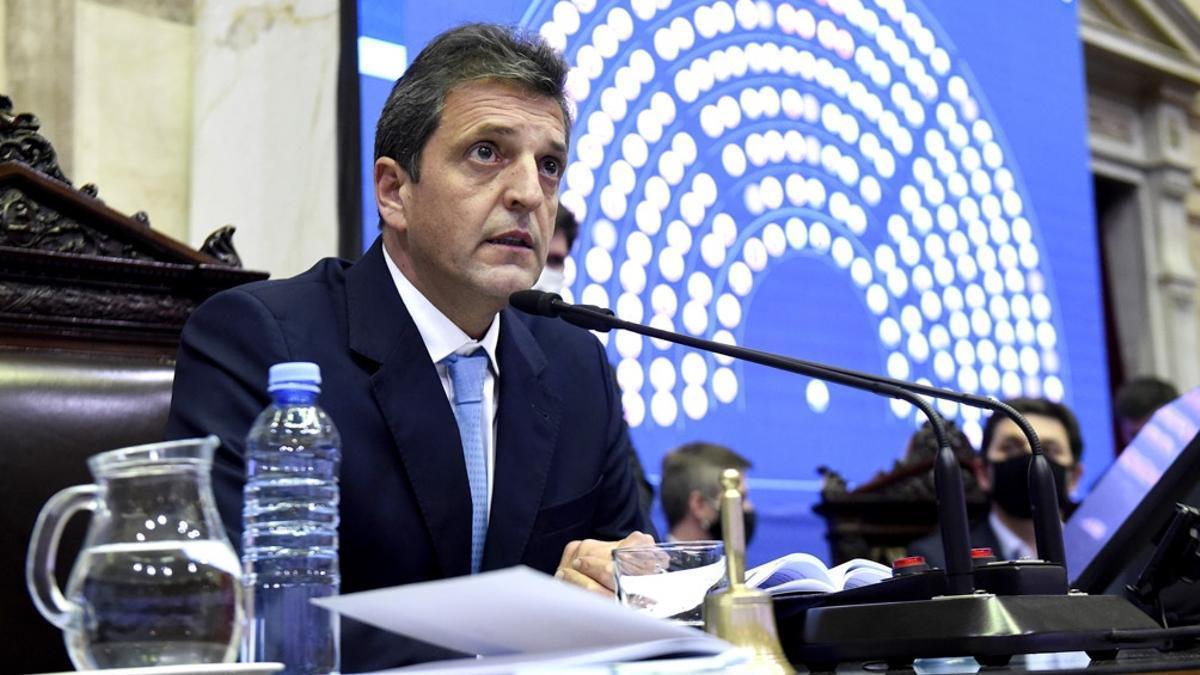 El presidente de la Cámara de Diputados, Sergio Massa