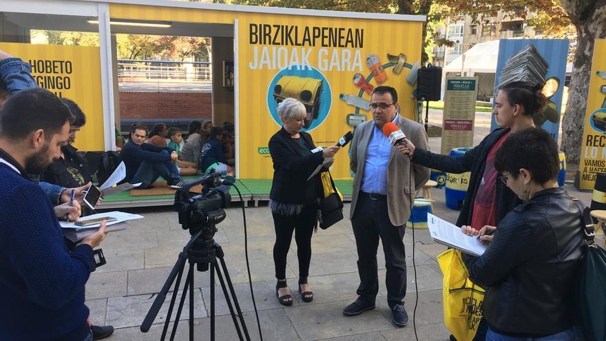 Medio Ambiente y Ecoembes llevan a Durango la campaña a pie de calle para acercar la economía circular a la ciudadanía