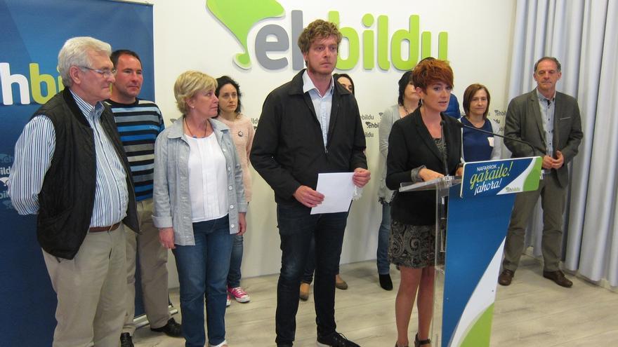 EH Bildu rechaza las pintadas en Olazagutia pero dice que candidatos suyos también las sufren