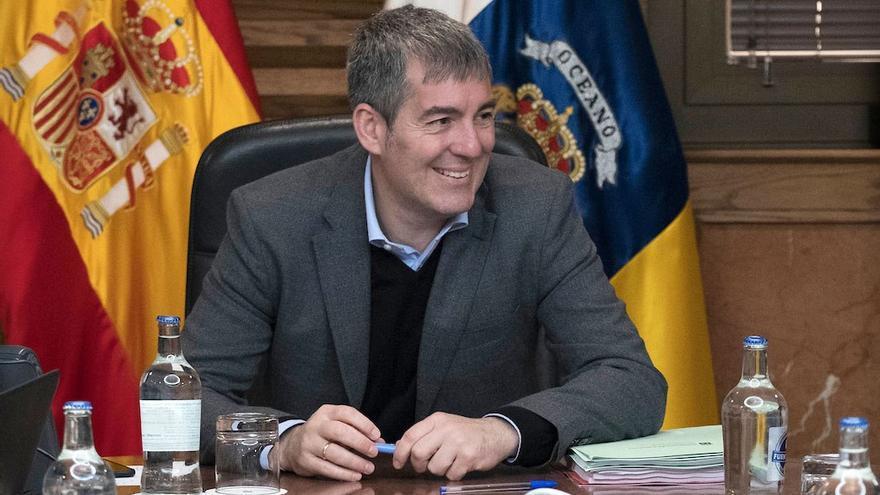 Fernando Clavijo, en un Consejo de Gobierno