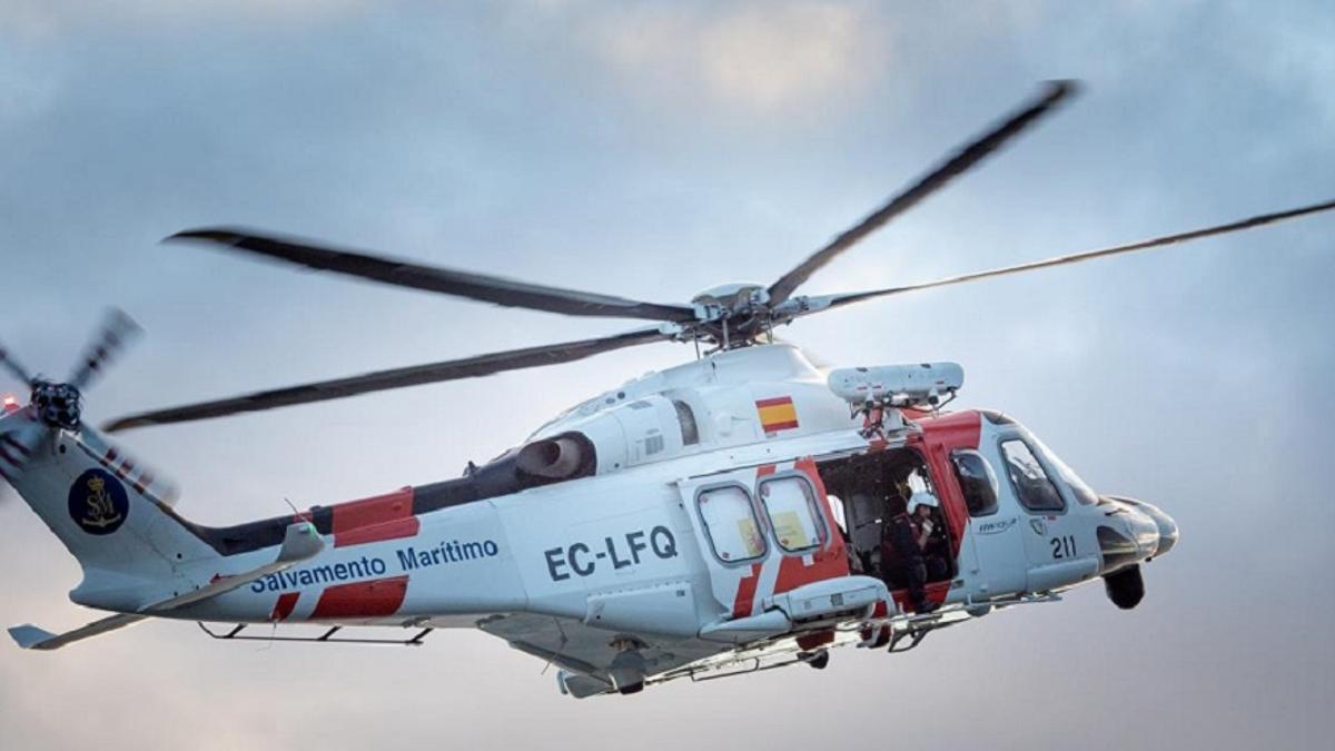 El helicóptero Helimer localizó el cadáver.
