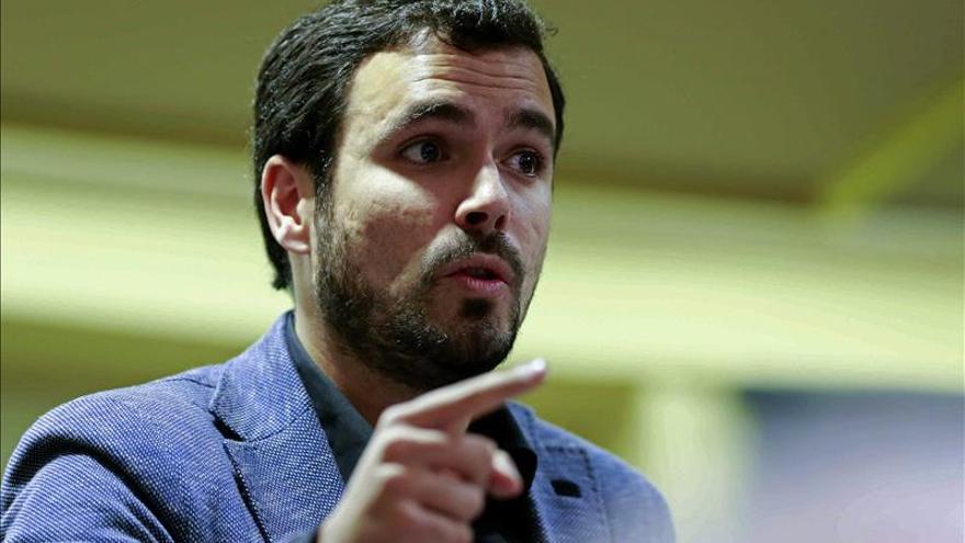 Garzón dice que la diferencia del PP con los conservadores del R.Unido es la corrupción