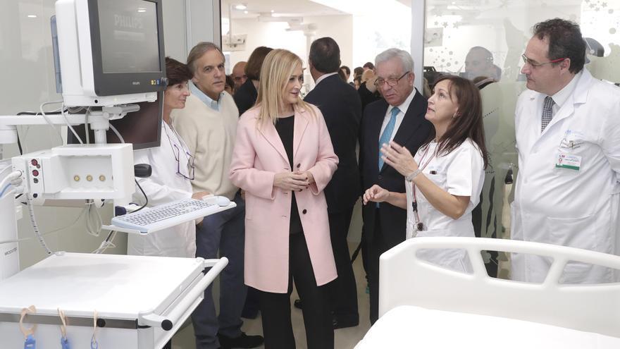 La presidenta de Madrid, Cristina Cifuentes, en la inauguración de la UCI Aladina, en el año 2017