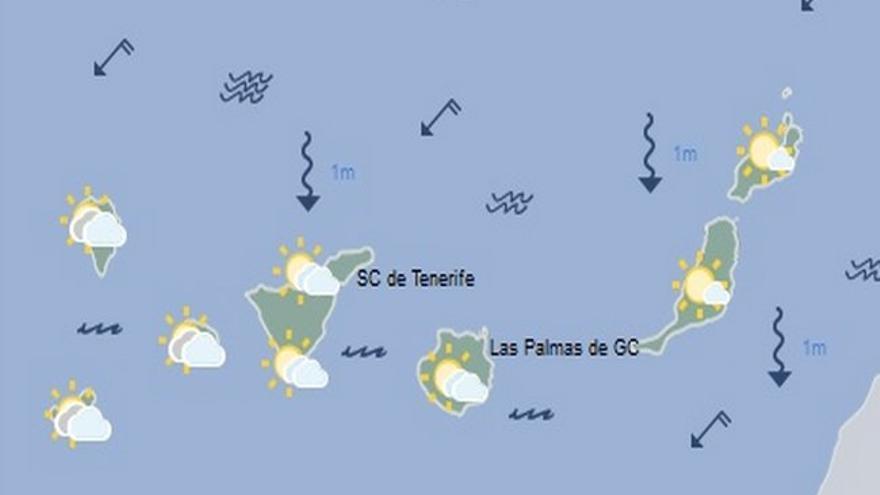 Mapa de la previsión meteorológica para el lunes 29 de agosto