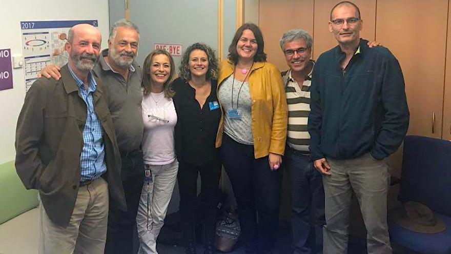 Representantes de la Plataforma Canarias por un Territorio Sostenible en Bruselas