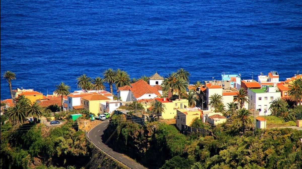 Panorámica de la Villa de San Andrés, en el municipio de San Andrés y Sauces. Foto: palmerosenelmundo.com