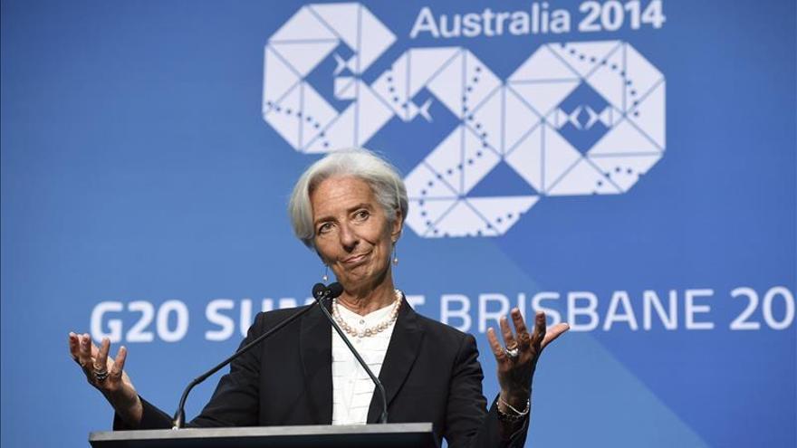 Lagarde inicia una gira por Perú y Chile con frenazo en Latinoamérica de fondo