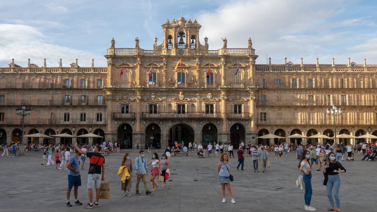 La plaza Mayor de Salamanca, epicentro de la ciudad del español