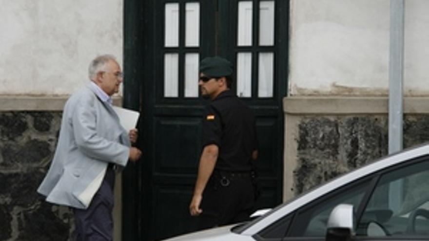 El abogado Felipe Fernández Camero, en una intervención judicial al Ayuntamiento de Arrecife en 2009.