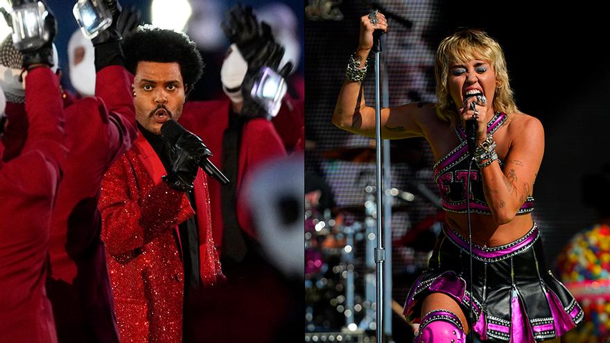 Así fue el show de la Super Bowl 2021, con un correcto The Weeknd y Miley Cyrus en modo arrollador