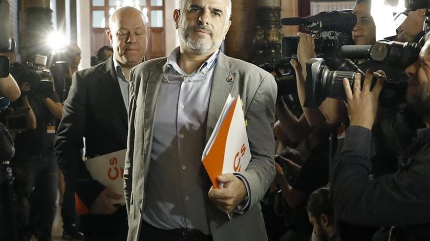 El portavoz de Ciudadanos, Carlos Carrizosa, el mes pasado en el Parlament
