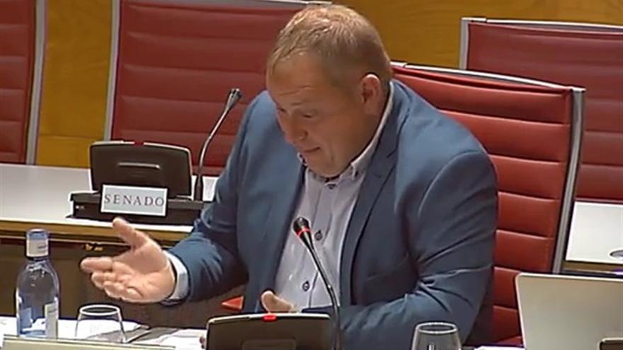 José Manuel Orengo, en el Congreso en su declaración sobre el caso Crespo Gomar.