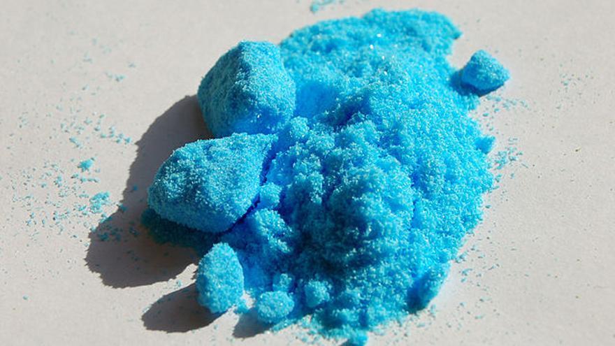 El sulfato de cobre es utilizado como fungicida en la agricultura ecológica