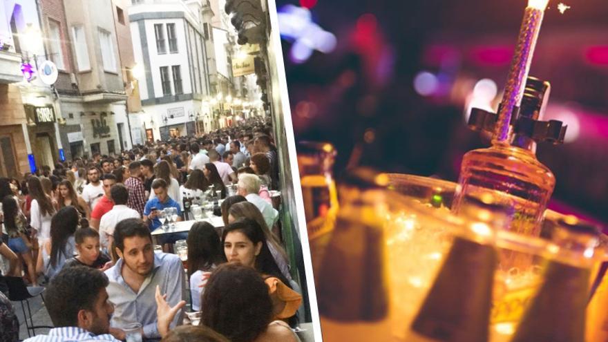 Tardeo en 'La Zona' de Albacete, a la izquierda, y en el local Plaza 3 en Murcia, a la derecha