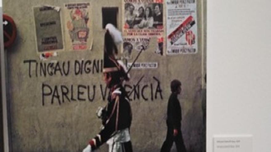 Pintada a favor del valencià.