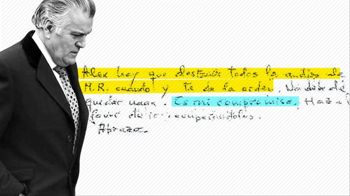 Luis Bárcenas escribió una carta a un preso