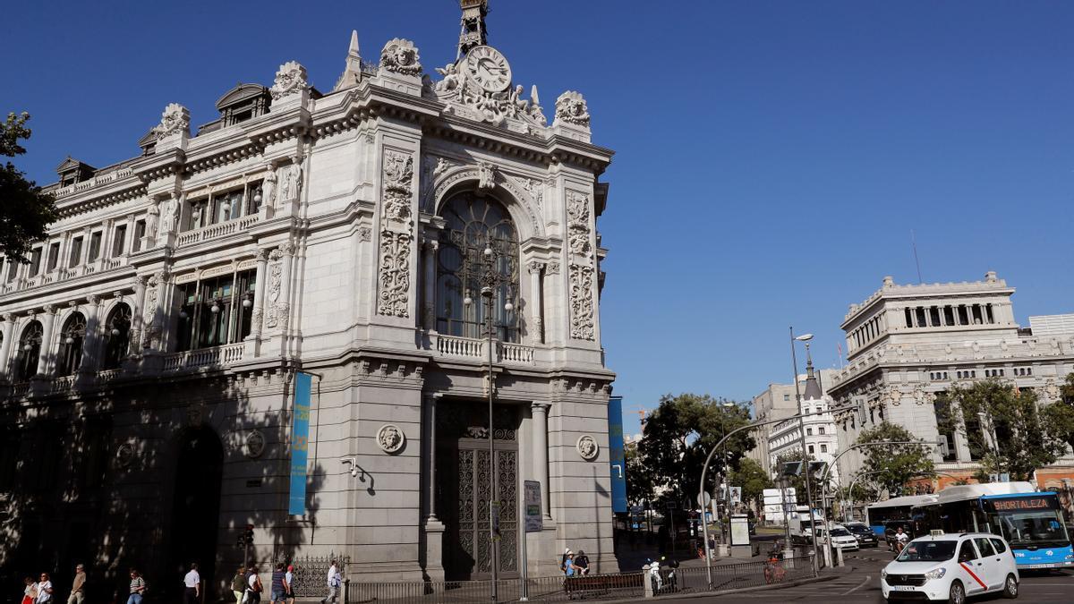 Fachada de la sede del Banco de España en Madrid. EFE/Chema Moya/Archivo