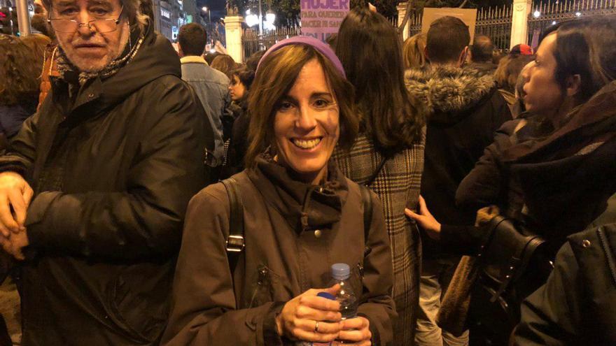 Eva Guardo en la manifestación madrileña.