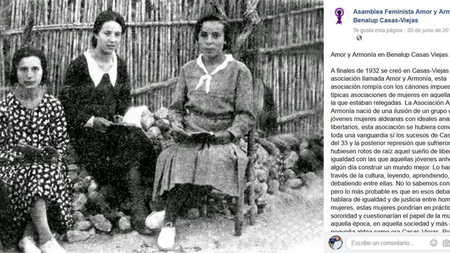 Mujeres de Casas Viejas. | ASAMBLEA FEMINISTA AMOR Y ARMONÍA DE BENALUP-CASAS VIEJAS