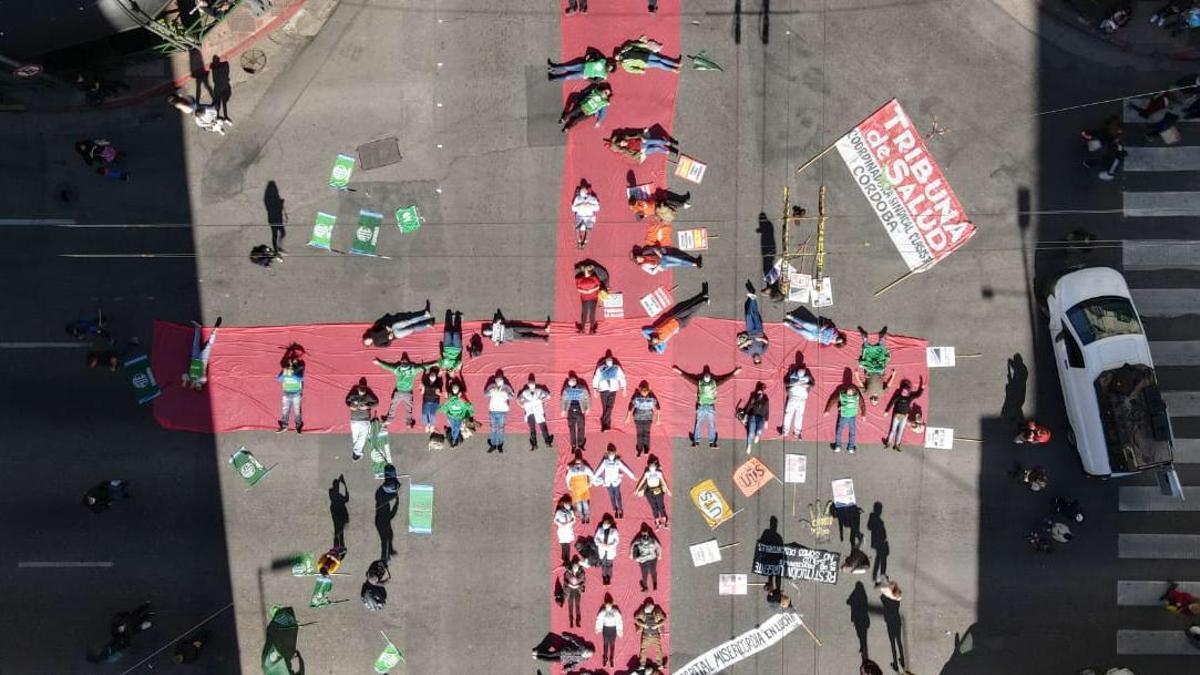 Protesta de personal de salud en Córdoba