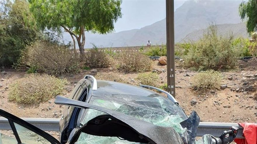 Estado del vehículo contra el que ha impactado el camión