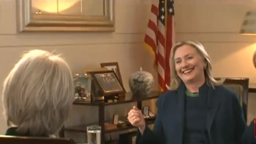 """Hillary Clinton celebrando el asesinato de Gadafi: """"Llegamos, vimos y murió"""""""