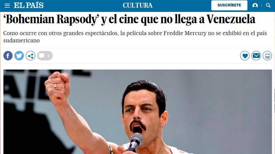 Bohemian Rapsody no llega a Venezuela