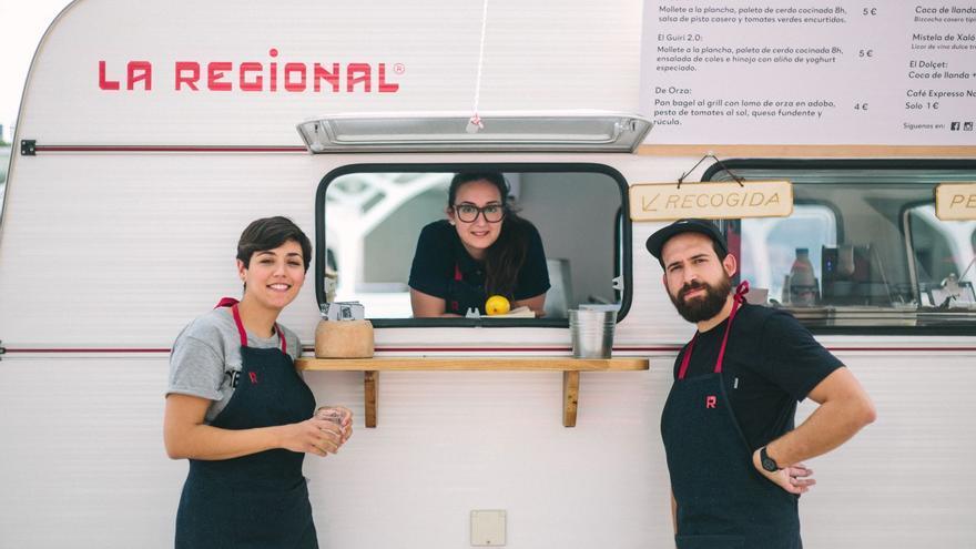 La Regional, uno de los participantes en el primer festival de comida callejera o 'street food' de Valencia.