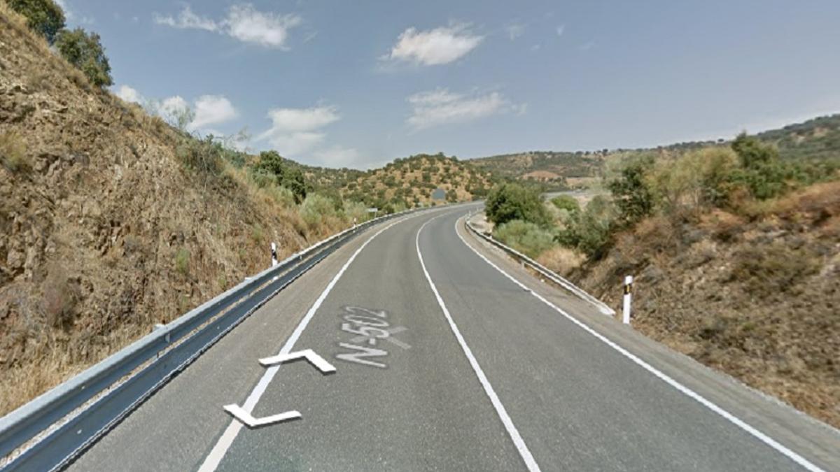 Punto de la carretera N-502 donde ha tenido lugar el accidente.