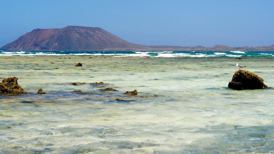 La Isla de Lobos desde las playas de Corralejo. Thomas Tolkien (CC)