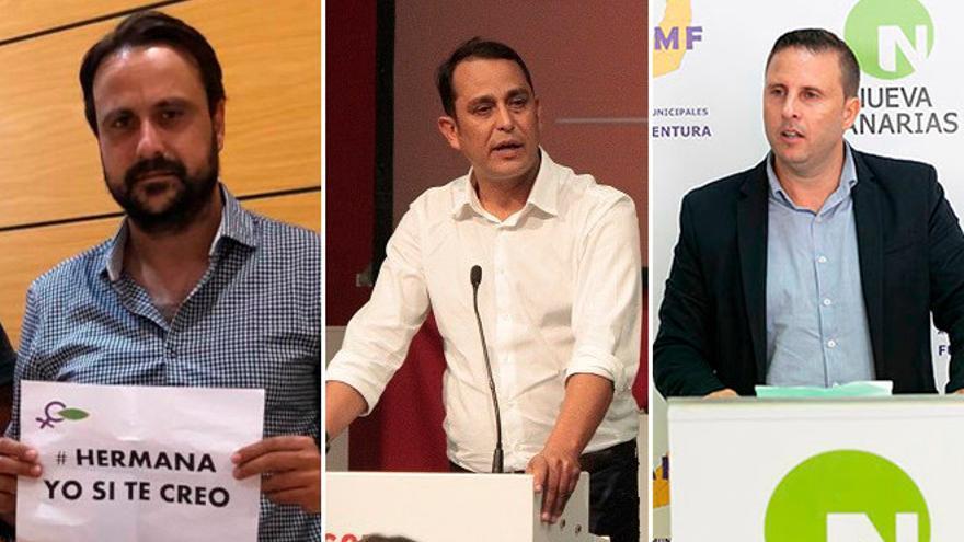 Gustavo García, Blas Acosta y Alejandro Jorge.