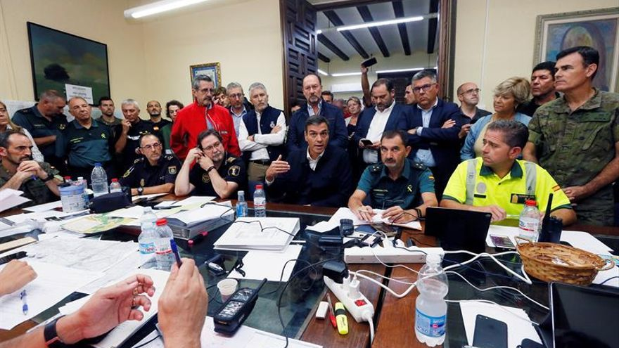 Sánchez compromete la ayuda del Gobierno para recuperar las zonas afectadas